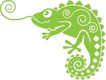 Chameleon verde illustrazione di stock
