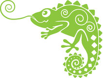 Chameleon verde Fotografie Stock Libere da Diritti