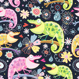 Chameleons colorati struttura Fotografia Stock Libera da Diritti
