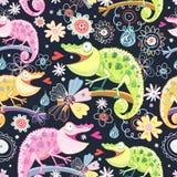 Chameleons coloridos textura ilustração royalty free