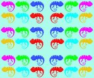 Chameleons iridescent vector illustration