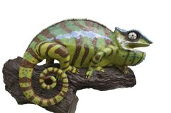 Chameleons statue Royalty Free Stock Photography
