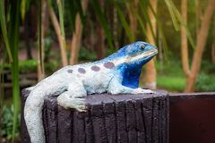 Chameleons statue Royalty Free Stock Image