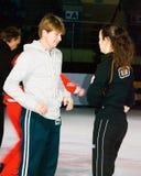 Chamhion di Olimpic nella la figura pattinare Alexei Yagudin fotografia stock