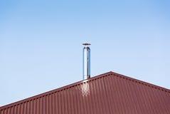 Chaminé do metal no telhado Imagem de Stock Royalty Free