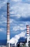 Chaminé e nuvens Fotos de Stock