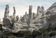 A chaminé gosta de formações de rocha na garganta da fantasia, Utá fotos de stock royalty free
