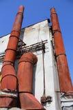 Chaminé metálica oxidada Imagem de Stock