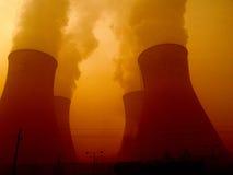 Chaminés da central eléctrica Foto de Stock Royalty Free