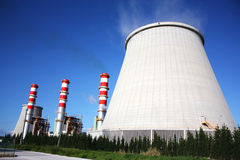 Chaminés da central energética Imagem de Stock Royalty Free