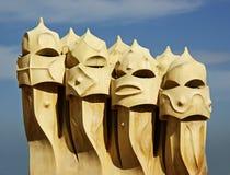 Chaminés de Gaudi Foto de Stock