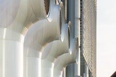 Chaminés diferentes da ventilação pintadas de aço Imagem de Stock Royalty Free