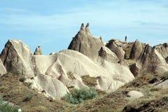 Chaminés feericamente, Cappadocia foto de stock