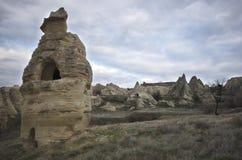 Chaminés feericamente de Cappadocia fotografia de stock royalty free