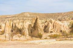 Chaminés feericamente em Cappadocia Imagens de Stock