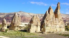 Chaminés feericamente em Cappadocia, Turquia Imagens de Stock Royalty Free