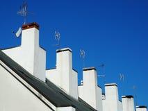 Chaminés residenciais da casa Imagem de Stock Royalty Free