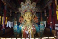 Chamkhang,未来菩萨的雕象, Leh 库存照片