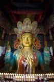 Chamkhang,未来菩萨的雕象, Leh 免版税库存图片