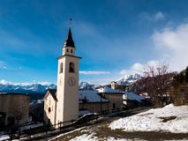Chamois Church, Italy royalty free stock images
