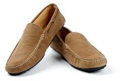 Chamois Leather Men's Shoes Stock Photo
