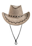 Chamois stetson cowboy hat. One chamois stetson cowboy hat,  full face, on white background; isolated Stock Photo
