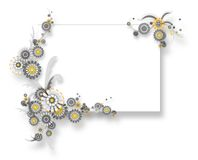 Chamomile banner teamplate. Banner teamplate with 3d rendered chamomiles flower stock illustration