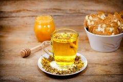 Chamomile - camomile tea is served Stock Photo