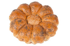 Chamomile challah over white Stock Images