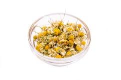 Chamomile flower on bowl Stock Photo