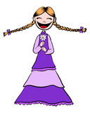 Chamomile girl Stock Image