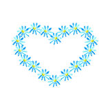 Chamomile heart Stock Images