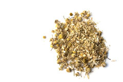 Chamomile herbal infusion on isolated. Chamomile herbal infusion on white background isolated Royalty Free Stock Image
