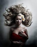 chamomile kwiatu biała kobieta Zdjęcia Royalty Free