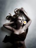 chamomile kwiatu biała kobieta Zdjęcie Royalty Free