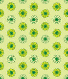 Chamomile pattern. Vector seamless flowered  pattern in green color scheme Stock Photo
