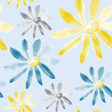 Chamomile seamless texture Stock Image