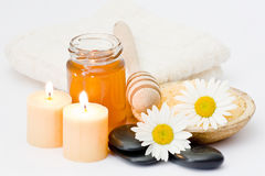 Chamomile spa Stock Photography