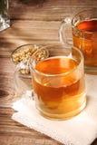 Chamomile tea with dried chamomile flowers Stock Photo