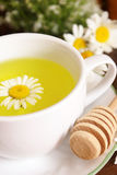 Chamomile Tea And Honey Royalty Free Stock Photos