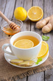 Chamomile tea with lemon, ginger and honey Royalty Free Stock Images
