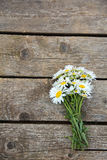 Chamomile on wooden table Royalty Free Stock Photography