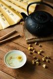 Chamomile z herbacianą polewką Fotografia Stock