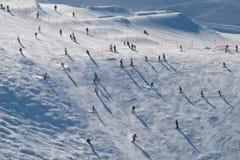 Chamonix śniegu narciarstwo zdjęcie royalty free