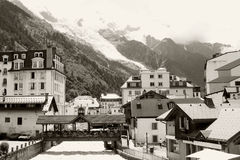 River in Chamonix city Royalty Free Stock Image