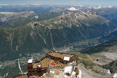 Chamonix, aerial view Royalty Free Stock Photos