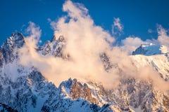 Chamonix Aiguilles Foto de archivo libre de regalías