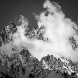 Chamonix Aiguilles in bianco e nero Fotografia Stock Libera da Diritti