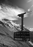 Chamonix cable car Royalty Free Stock Images