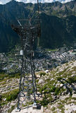 Chamonix cable car pillar Royalty Free Stock Images